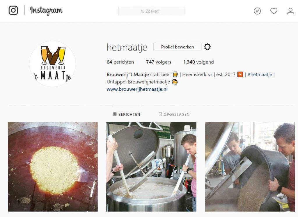 Instagram Brouwerij 't Maatje
