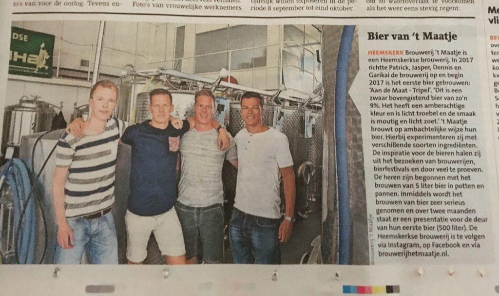 Publicatie Brouwerij 't Maatje